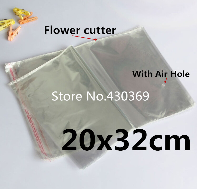 b504c1f02 100 قطع 20x32 سنتيمتر 20*32 سنتيمتر الكبير واضح أكياس ذاتية اللصق القماش  لحاف التعبئة والتغليف كيس البلاستيك opp/بوب/كيس بولي