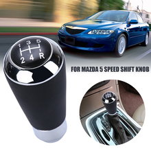 Car Interior Parts 2019 Hot Sale 5 Speed PU Leather Gear Stick Shift Knob Shifter Head For Mazda 3 6