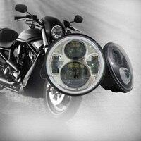 Harley 883 Dyna Headlamp 5.75 inch LED Headlights DRL for Triumph Rocket iii 3 & Speed Triple & Street Triple 5 3/4 Headlamp