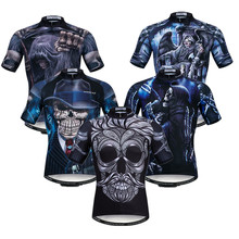 цена на Weimostar 3D Skull Cycling Jersey Top Summer Men Mountain Bike Clothing Team Sport MTB Bicycle Jersey Breathable Cycling Shirt