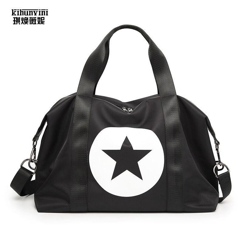 Sac de voyage femme résistant à l'eau sacs à main femme bagage sac à main pour voyage nouvelle étoile touristique imprimé Crossbody Bolsas