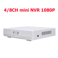 Mini NVR Full HD 4 Channel 8 Channel Security Standalone CCTV NVR 1080P 4CH 8CH ONVIF