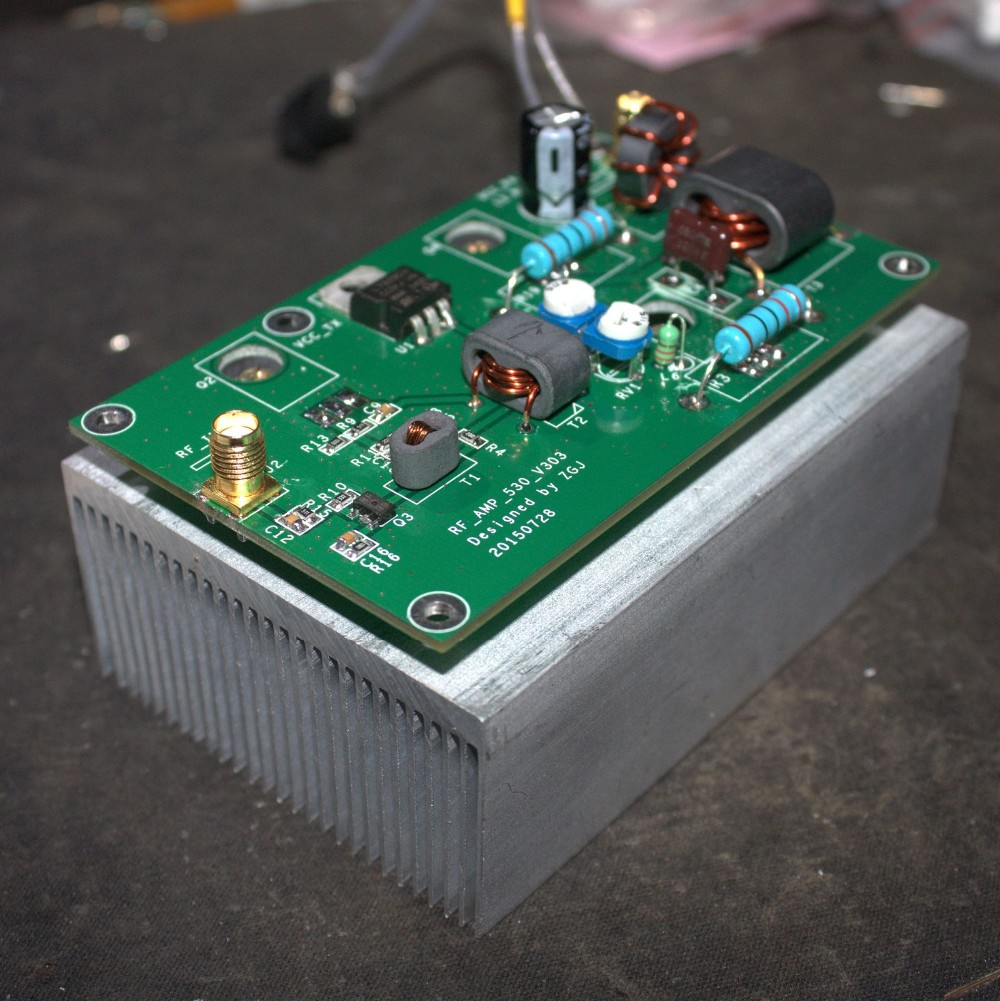цена на New Assembled Item Board 45W SSB linear Power Amplifier with heatsink for transceiver Radio