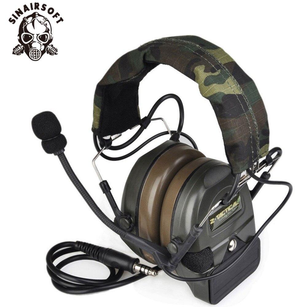 Airsoft Comtac Z 054 ZComtac I Style Tactical Headset OD Free Ship Helmet Noise Canceling Headphone