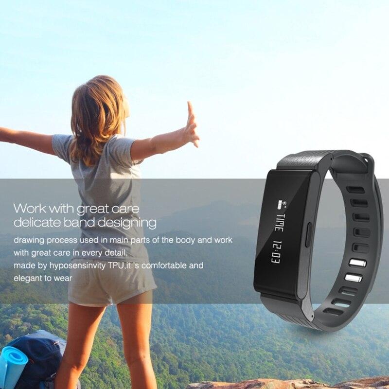 W6 Waterproof Fitness Tracker Watch Wristband Heart Rate Monitor Sport Smart Bracelet