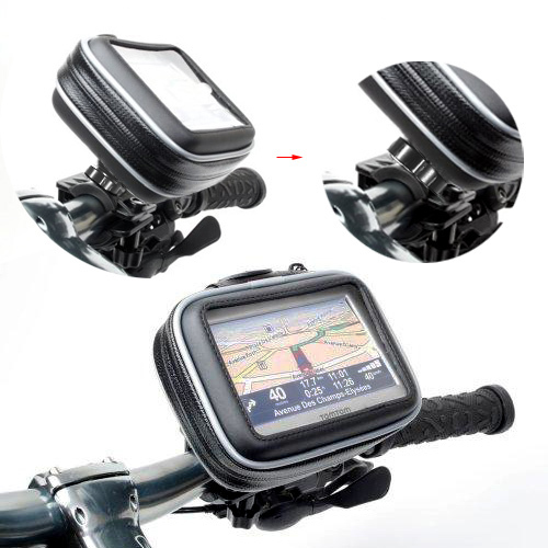 Motorcycle Bike Bicycle Waterproof Case Bag Cover Mount For 3.5 4.3 Gar GPS