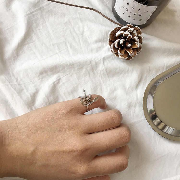 Anel de abertura da moda retro malha oco deixa de franjas bohemian estilo étnico personalidade jóias anel ajustável para as mulheres