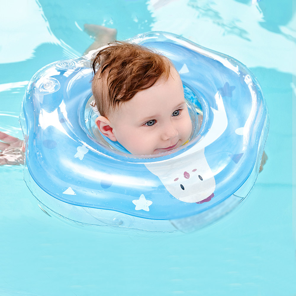 Infant Swimming Ring Inflatable Baby Swimming Neck Ring Pool Float Bath Floating Bathtub Pool Toys For Infant Toddler New