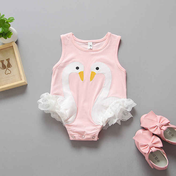 8103566eaa2 ... Toddler Baby Kids Girls Flamingo Feathers Swan Romper Jumpsuit Playsuit  Outfits Newborn Girl Summer Rompers Sunsuits ...