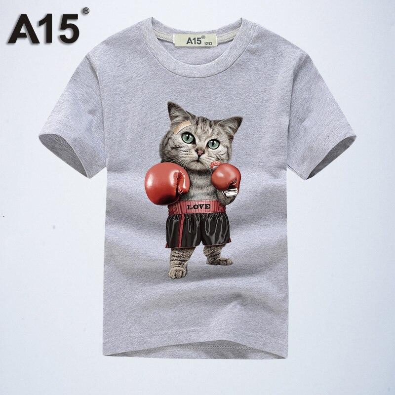 A15 Scherza La Maglietta Dei Ragazzi 2018 Nuovo Modo 3d Del Fumetto T-shirt Di Marca Abbigliamento Hip Hop Anime Stampa Manica Corta Ragazze Tee 8 10 12 Anno