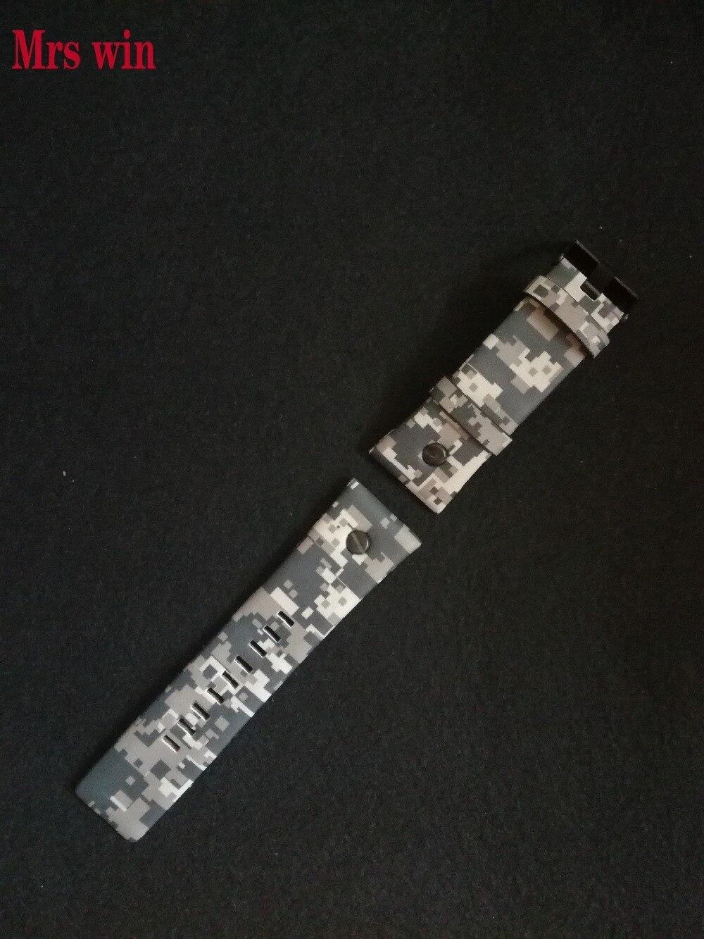 Pani win nowy wysokiej jakości 23mm mężczyźni zegarek pasmo kamuflaż nadające się do DZ pasek na zegarek pasek ze skóry z prawdziwej skóry pasek w Paski do zegarków od Zegarki na  Grupa 2