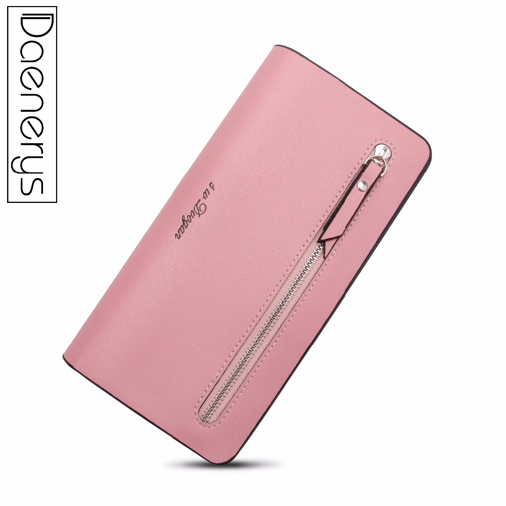 Daenerys Womens Wallet Leather Purse Long Luxury Ladies Clutch Party Female Multi Card Holder Hasp Zipper Change For Girls in Wallets from Luggage Bags