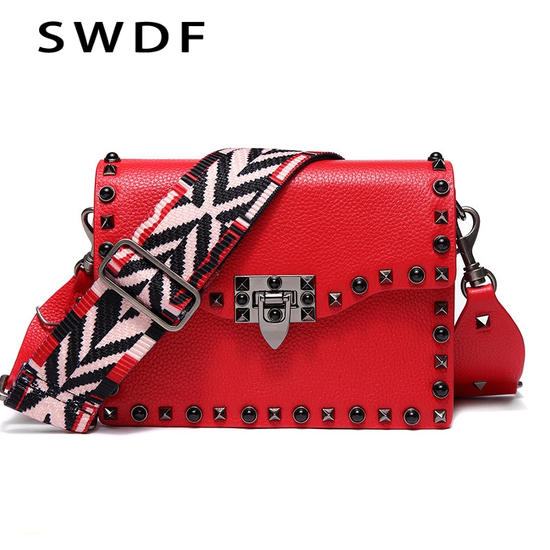 SWDF Women Luxury Cow Leather Shoulder Bags New Winter Genuine Leather Rivet Shoulder Handbag Bolsa Retro Messenger Bags Ladies insiders vol 3 the afghan trap