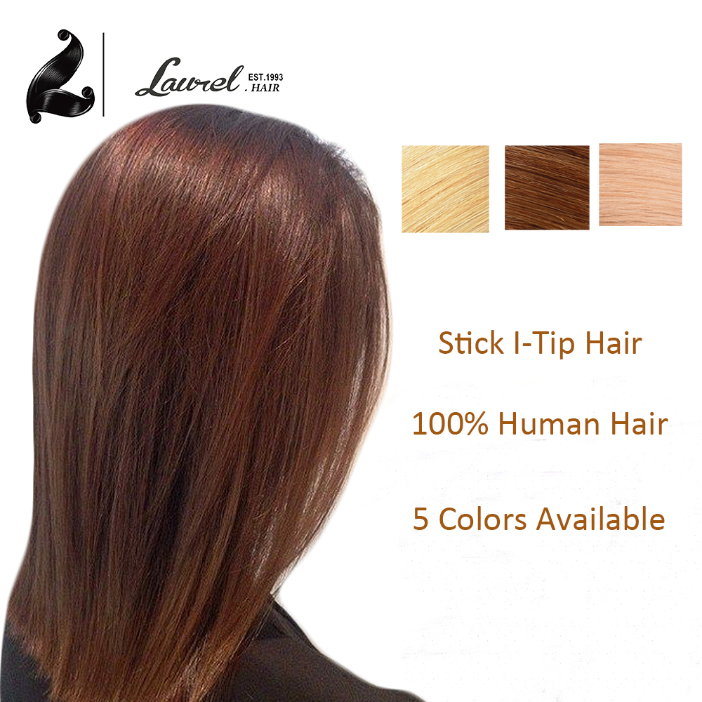 Hot 100Strands Stick I Tip Human font b Hair b font Extensions 24 Inch 27 30