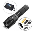 G700 1SET CREE XML T6 LED 2000Lm cree adjustable led Torches Zoomable E17 LED Flashlight Lamp+1x18650 Battery car charge holster