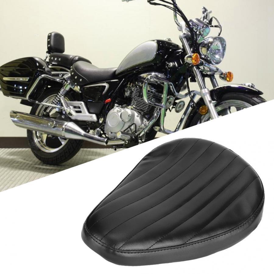 Coussin d'éponge de conducteur de siège de moto en cuir d'unité centrale de rayure noire convient pour le coussin de siège de moto de Prince de croisière d'haley