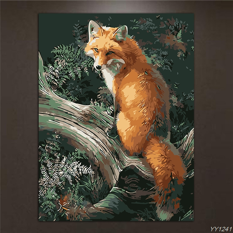 Frameless Animal Pictures DIY Painting By Numbers Kits Paint On Canvas Acrylic Coloring Painitng By Numbers For Home Wall Decor