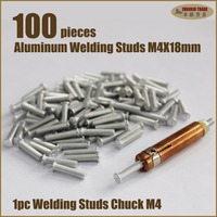 Auto Hood Panel Dents Spot Capacitor Discharge Stud Welder Welding Gun Chuck Aluminum CD Flanged Studs