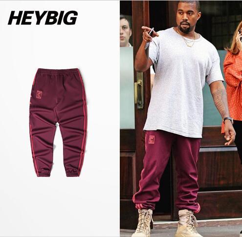Season 4 calabasas Joggers Men Kanye West Hip Hop Pants Casual Trousers 2017 new Sweatpants season 4 cuffed pants Striped