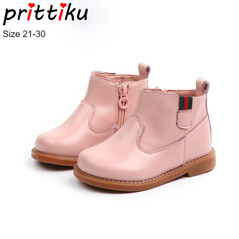 d4b426c2a5c8b Otoño 2018 niños moda Martin tobillo botas botines de cuero genuino para  las niñas niños Bebé niño zapatos Casuales en Botas de Mamá y bebé en ...