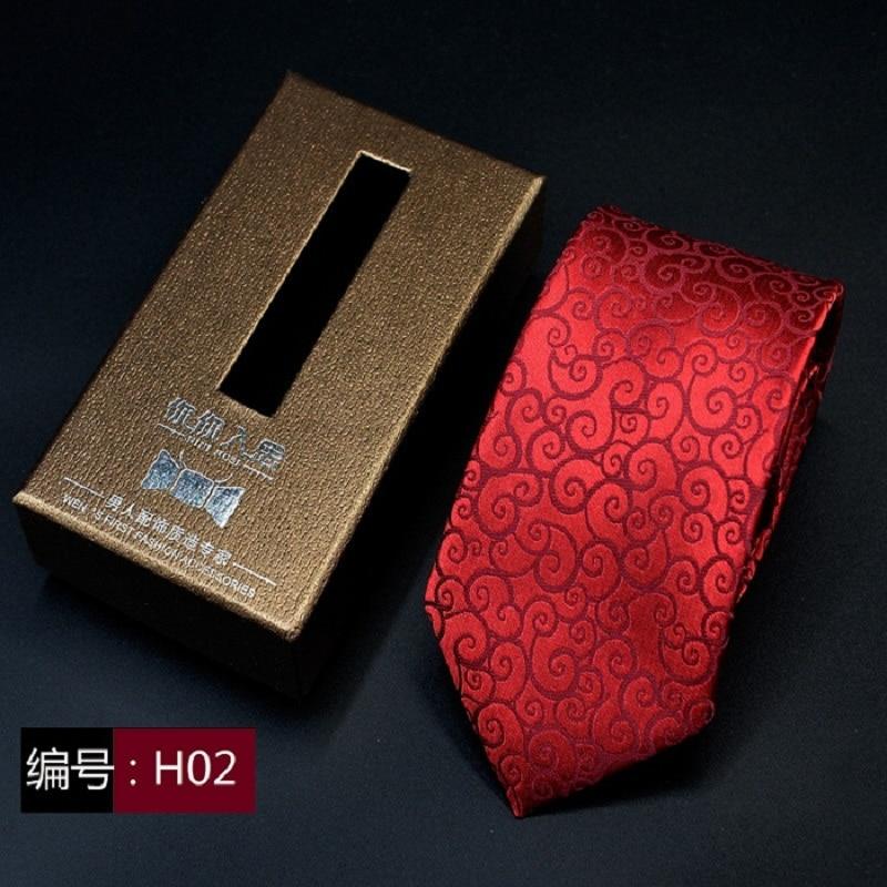 Formal business wedding Classic Stripe Men Tie JACQUARD WOVEN 7cm corbatas Fashion Accessories men necktie