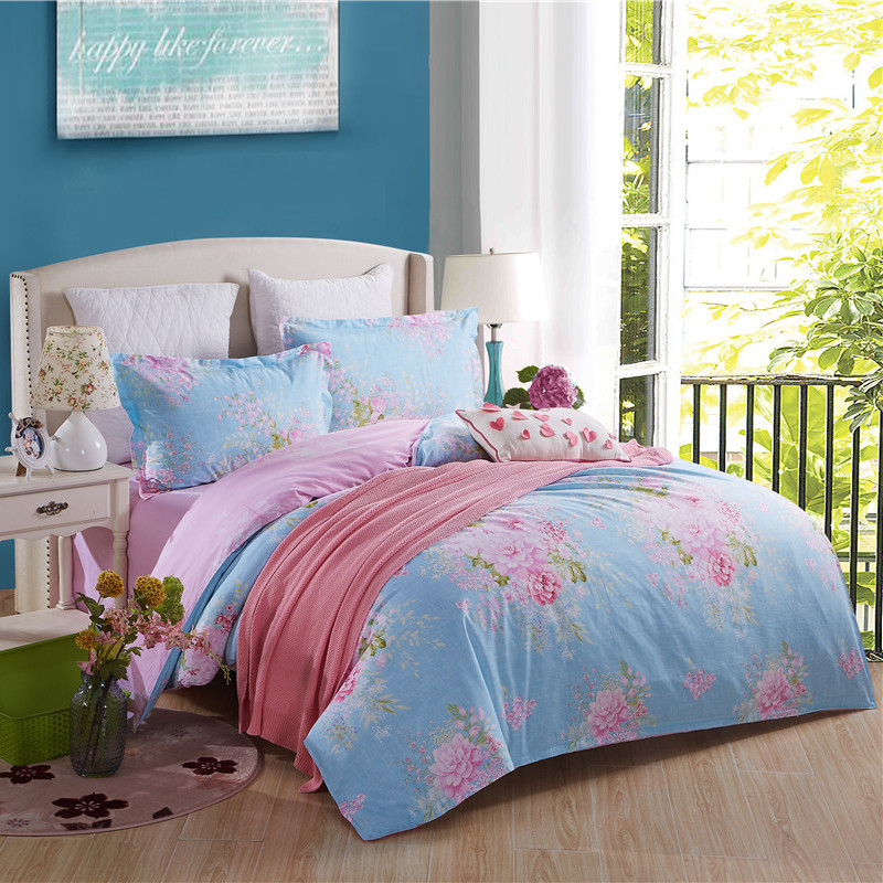 Popular flower bedspread buy cheap flower bedspread lots for Super cheap bedroom sets