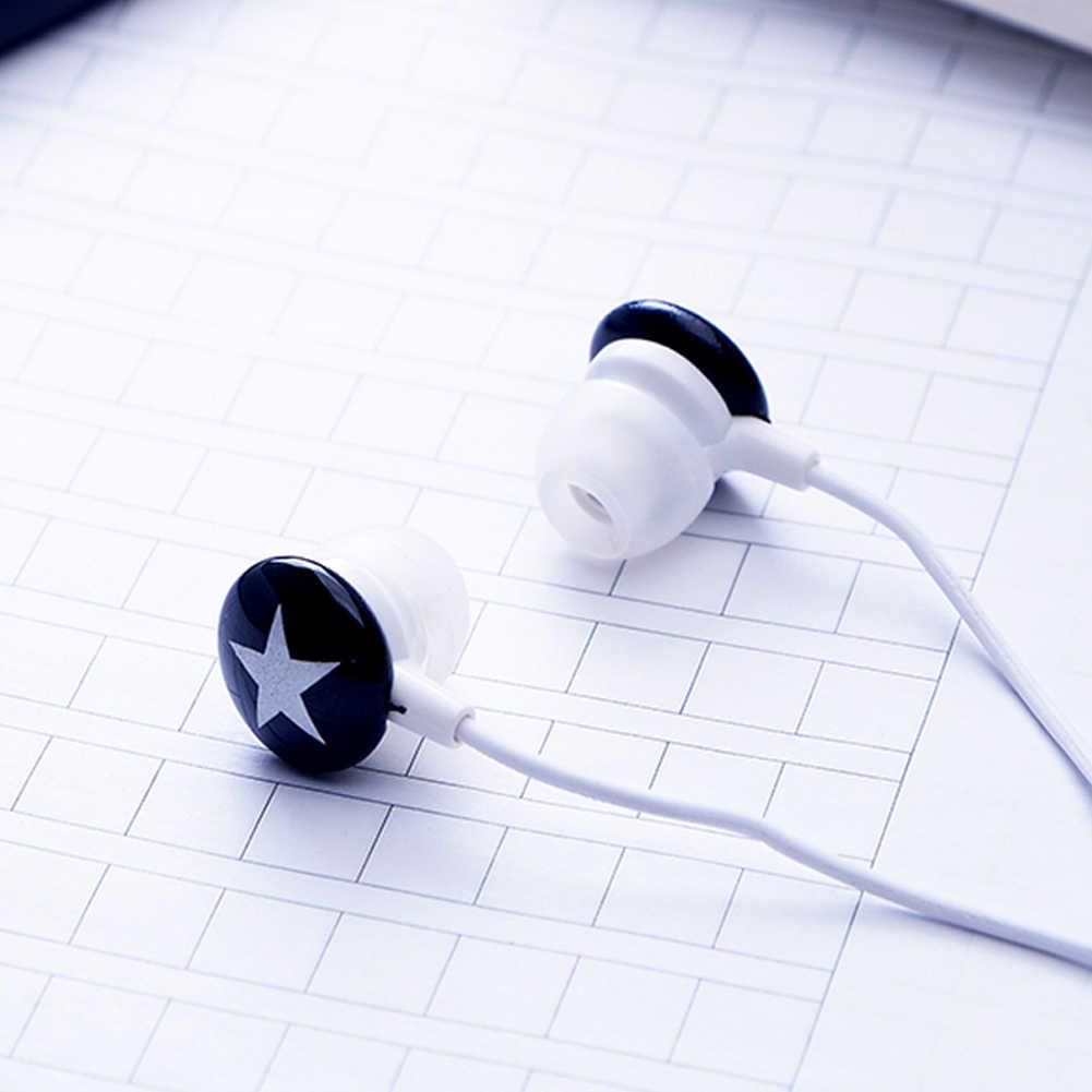 + זול + ורוד שחור לבן אדום כוכב 3.5mm סטריאו באוזן אוזניות אוזניות עבור Xiaomi HTC Samsung iPhone מחשב MP3 MP4 69% off