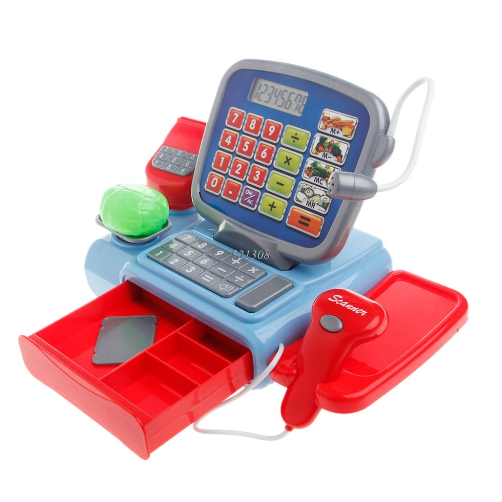 Ootdty 2017 Cash Register With Scanner Weighing Scale Electronic Toy Play Pretend For Kid Apr05 17