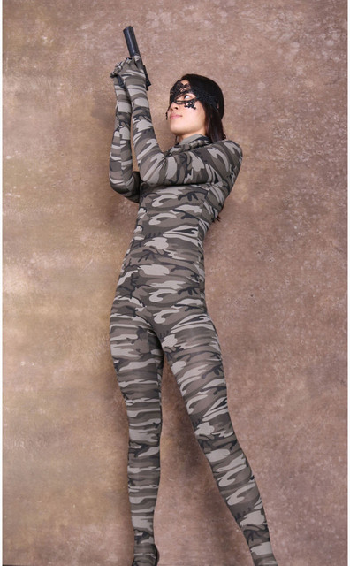 Camouflage uniforms and pantyhose