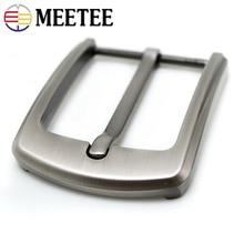 Meetee 40mm Width Metal Belt Buckles Brushed Pin Buckle Head for Men's Cowboy Hardware Accessories DIY Leather Craft Fit 37-39mm стоимость