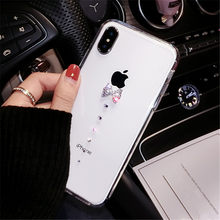 For Huawei P8 P9 P10 Plus P20 Lite pro selfie P Smart Plus Glitter Women cute rhinestone bow soft Phone case Soft Back cover(China)