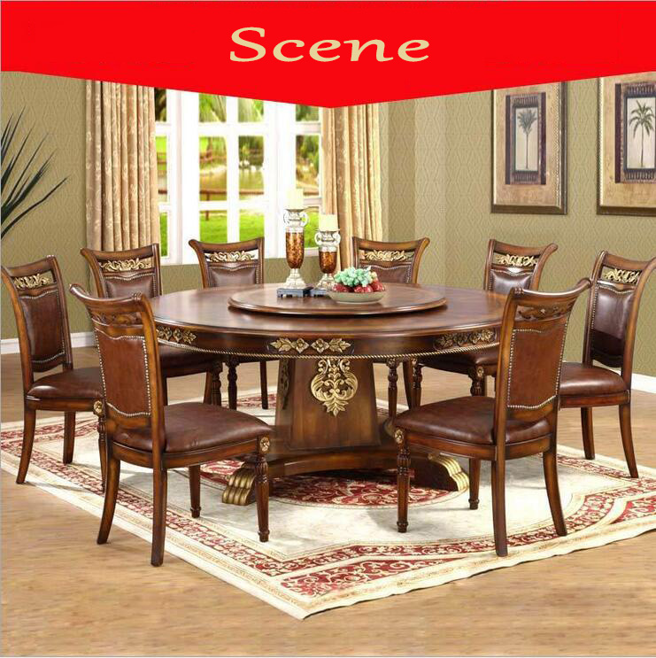 Modern Style Italian Dining Table, 100% Solid Wood Italy Style Luxury Dining Table Set 1085
