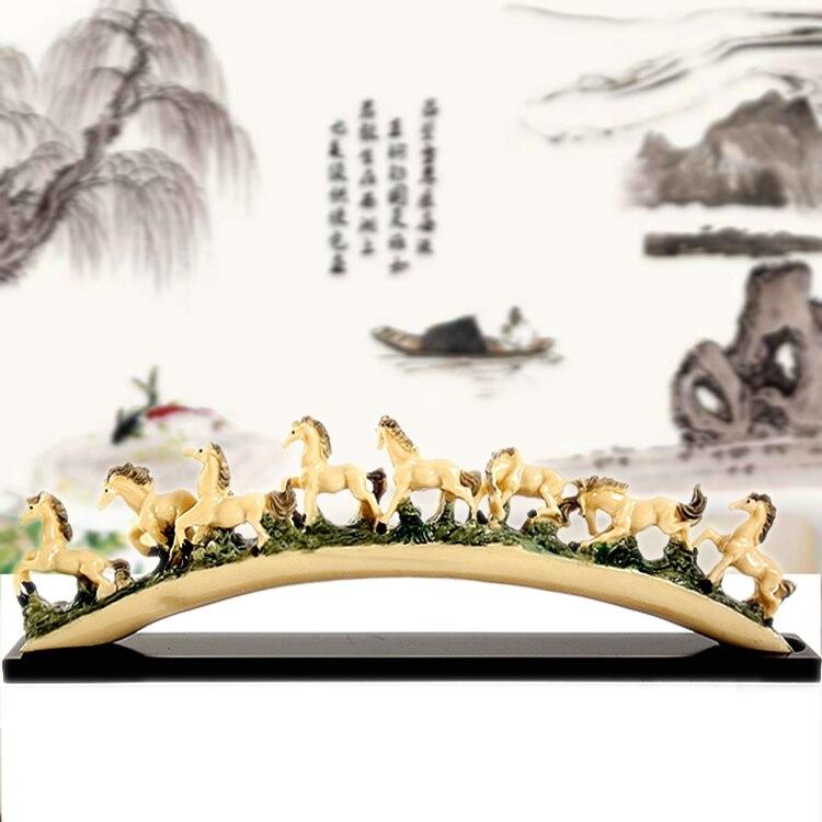 Huit cheval design ivoire art ameublement créatif famille salon do bureau meubles bureau résine bureau ameublement articles