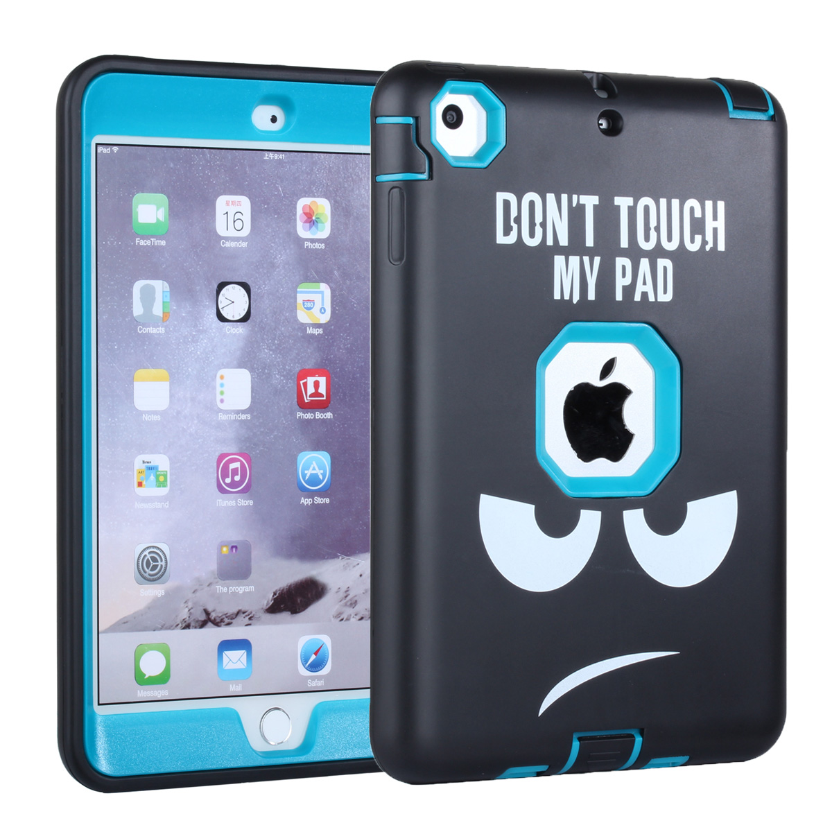 Colorful Silicone Hard Case for Apple iPad Mini 1/2/3 7.9 inch 3 in 1 Heavy Duty Armor Defender Protective Cover for iPad<