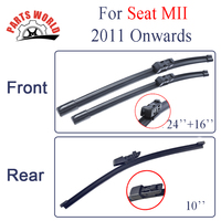 Group Silicone Rubber Front And Rear Wiper Blades For Seat MII 2011 Onwards Windscreen Wiper Audi