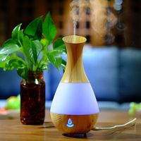 Bluetooth Aroma Essential Oil Diffuser Ultrasonic Air Humidifier With Wood Grain 7 Color Changing LED Lights