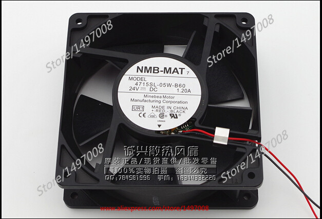Free Shipping For NMB 4715SL-05W-B60, UR1  DC 24V 1.20A 2-wire 110mm 120x120x38mm Server Square fan free shipping 24v dc mig welding wire feeder motor single drive 1pcs