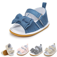 Summer Infant Girls Sandals Soft Sole Shoes Toddler Gold Sandals Holiday Beach Kid Baby Princess Soft High Quality Plaid Shoes(China)