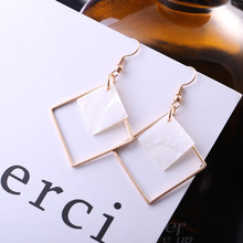 New fund act the role of taste originality joker contracted geometry earring individual character is melting square wholesale