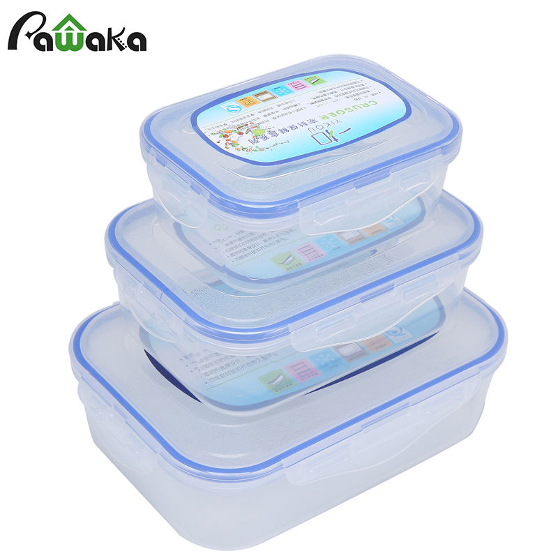 Us 11 13 27 Off 3 Pcs Lot Food Containers Box Set Pp Refrigerator Storage Microwave Bo Sealed Crisper Organizer Kitchen Cooking Gdget In