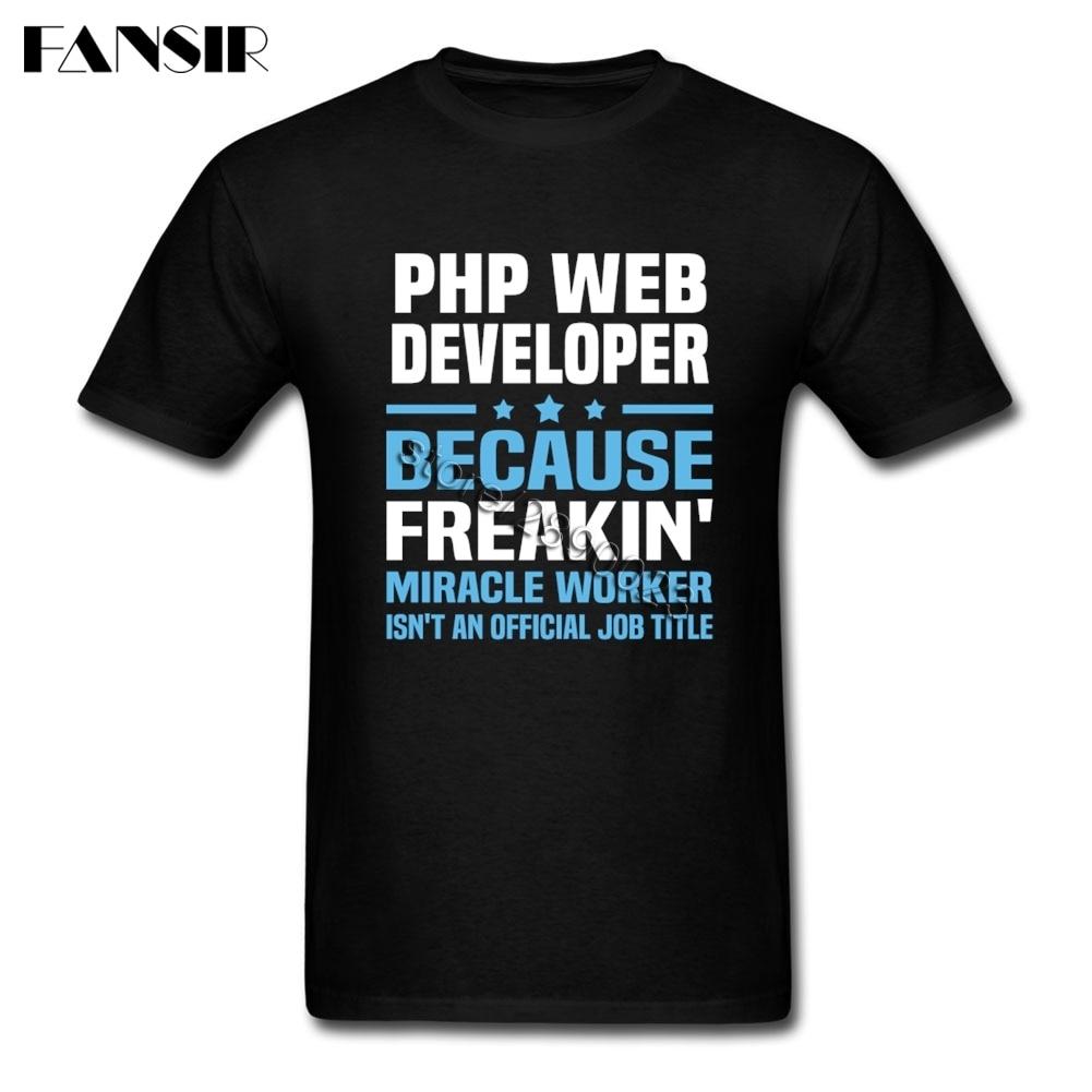 Divertente Tee Shirt Da Uomo PHP Web Developer Uomo T Shirt Manica Corta In Cotone Personalizzati Adult Top Tee