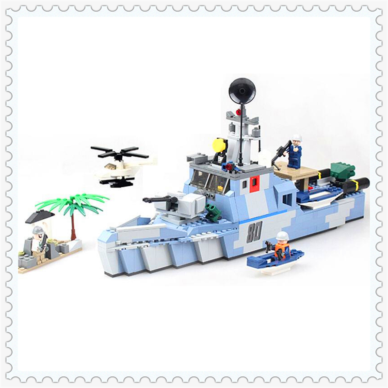 GUDI 8023 City Military Navy Warships Battleship Building Block 520Pcs Educational  Toys For Children Compatible Legoe decool 3114 city creator 3in1 vehicle transporter building block 264pcs diy educational toys for children compatible legoe