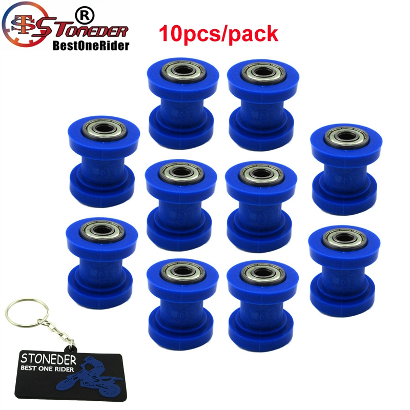 Stoneder 10x 8mm Blue Rubber Chain Roller For 50cc 250cc