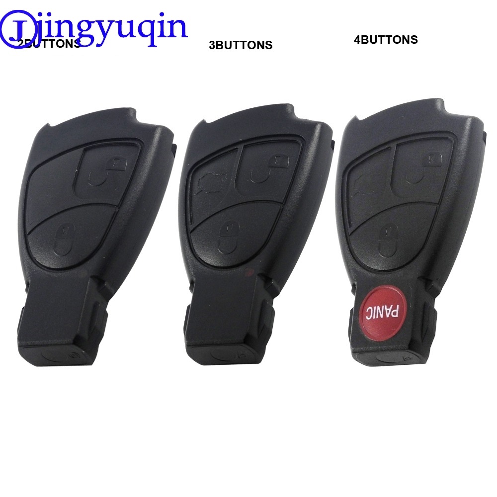 jingyuqin Replacements 2/3/4 Buttons Remote Car Key Fob Case Cover Shell For Mercedes Benz B C E ML S CLK CL Smart Key keyyou flip folding car shell remote key fob case 3 button for mercedes benz ml c cl s sl sel free shipping