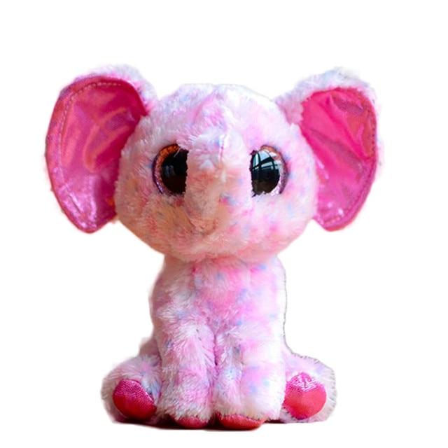 Ty Beanie Boos Big Eyes Plush Toy Doll Pink Elephant Stuffed Animals