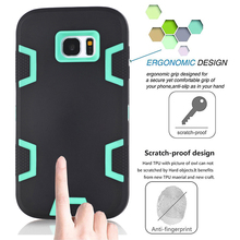 Heavy Duty Case Cover +Screen Protector For Samsung Galaxy S7/S7 Edge