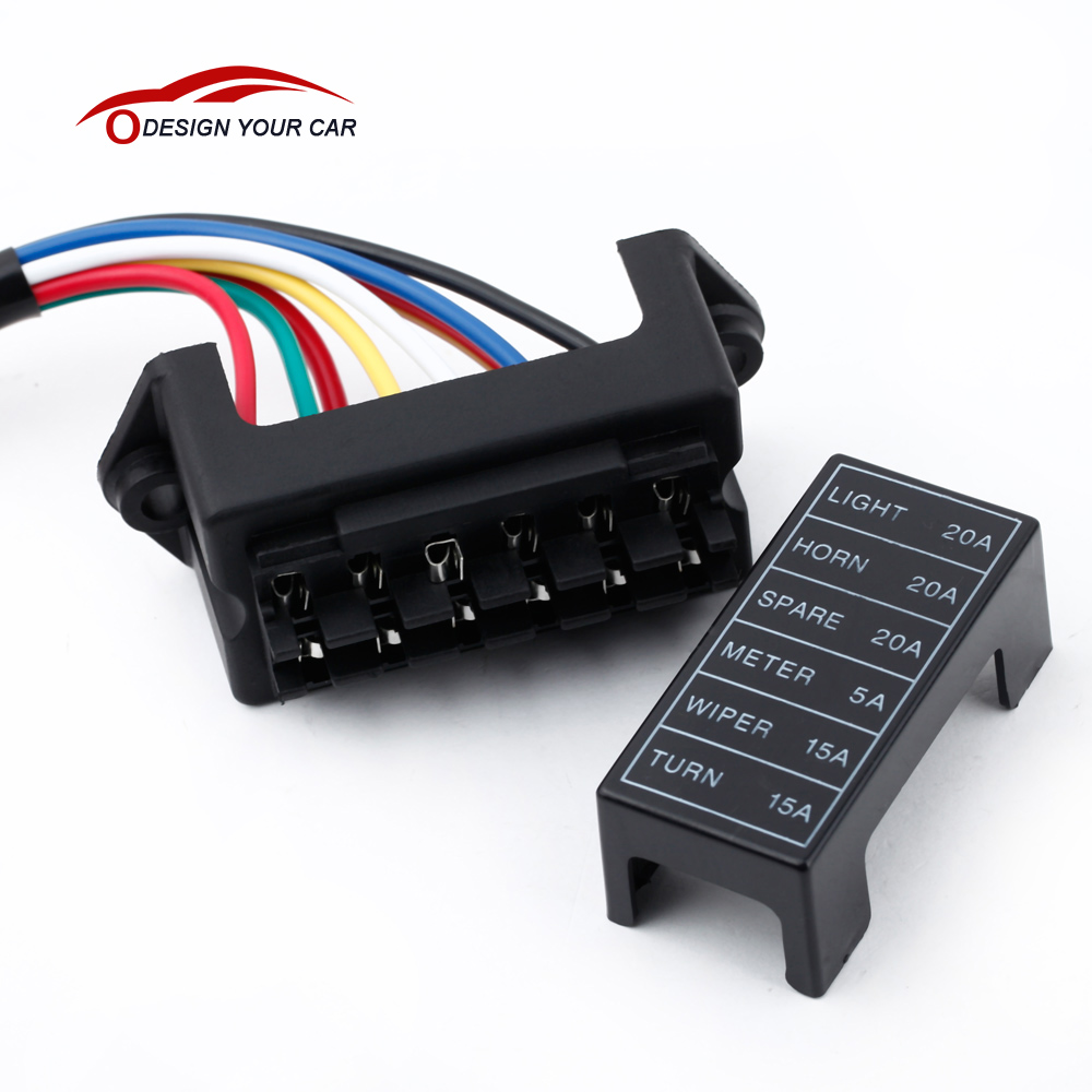 online get cheap car fuse box wiring aliexpress com alibaba group kkmoon 6 way car fuse box circuit car trailer auto blade fuse box block holder dc 12v 24v 32v atc ato 2 input 6 ouput wire