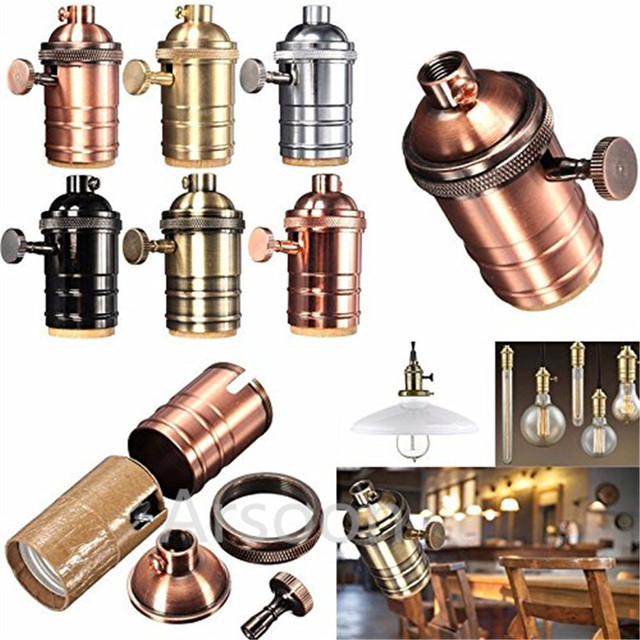 E26 E27 Lamp Socket Vintage Light Holder Clic Retro Edison Bulb Pendants Bases
