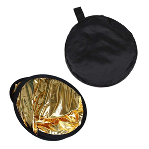 Image 4 - 2 in 1 80cm Light Reflector Portable Collapsible Round Photography Reflector Gold & Silver for Portrait Photography Accessories
