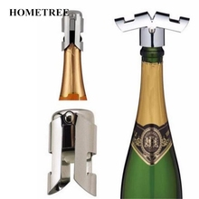 HOMETREE Hot Stainless Steel Champagne Sparkling Wine Opener Bottle Openers Cap Wine Bottle Kitchen Bar Tools Accessories H349(China)